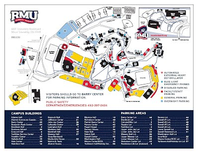 University Map and Directions   RMU Police Department